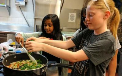 Getting kids involved in meal prep teaches good skills