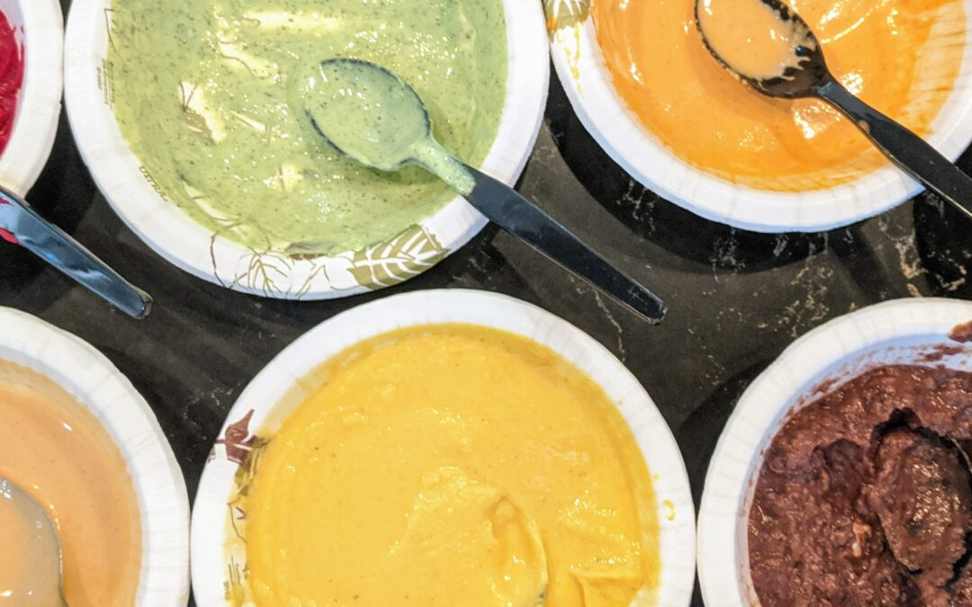 Jul. 12: Colorful Dips and Sauces (virtual class)